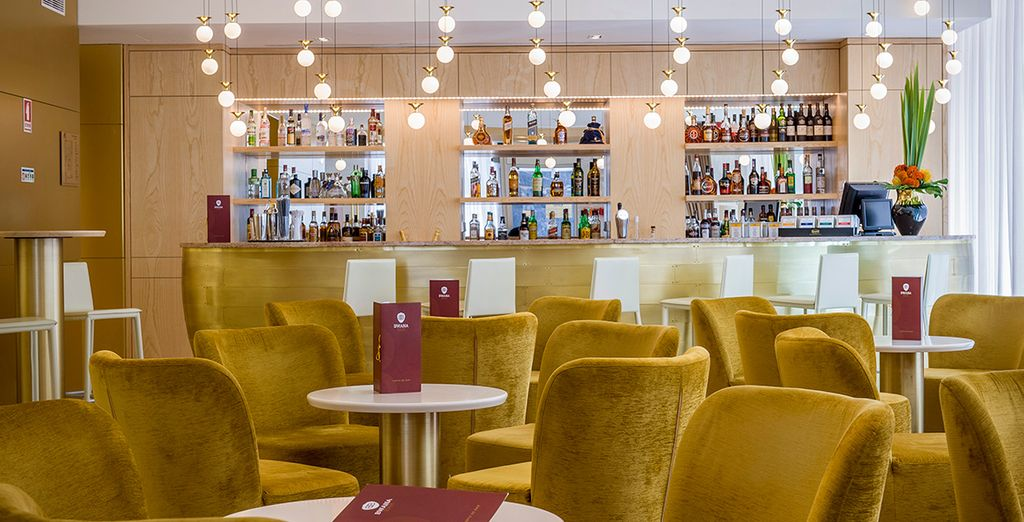 Or in the stylish Lounge Bar