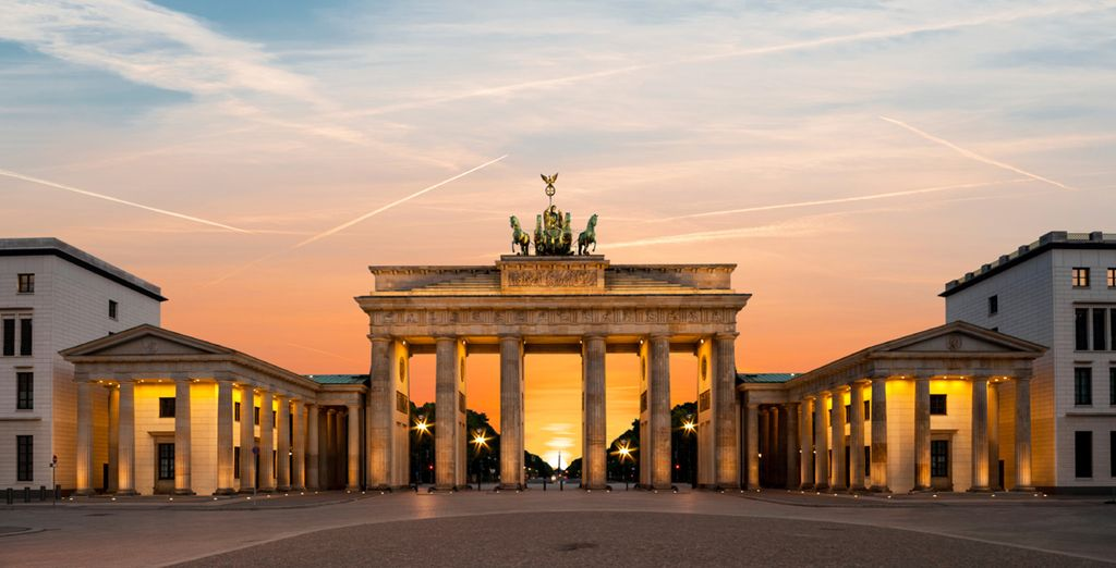 Witness the imposing Brandenburg Gate in all its glory