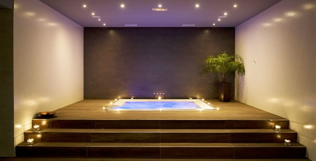Or ease aching muscles at the spa..