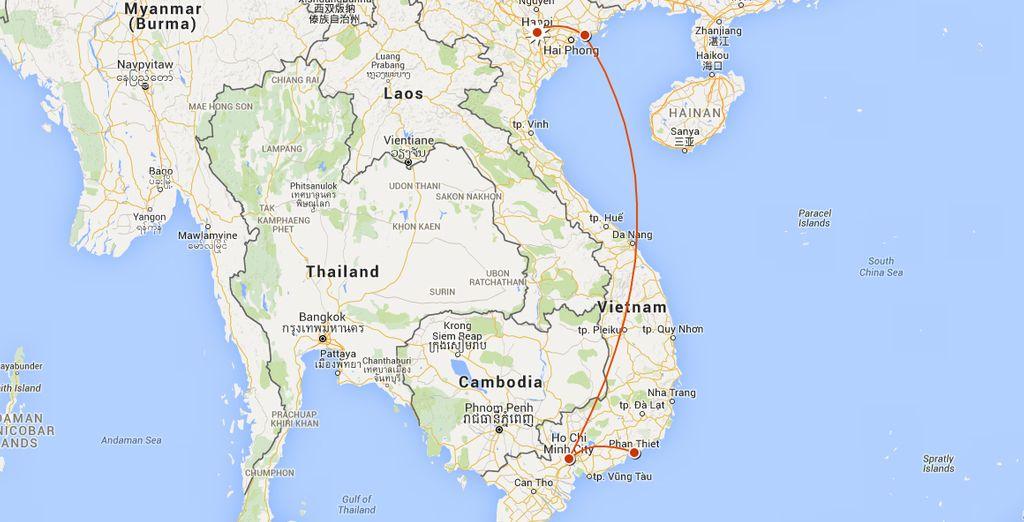 Through both North & South Vietnam
