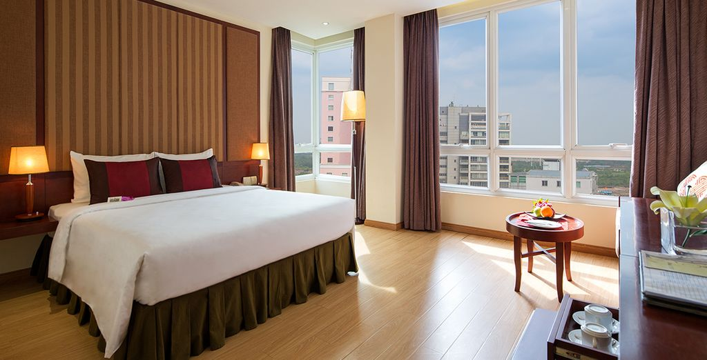 In spacious and elegant rooms (Paragon)