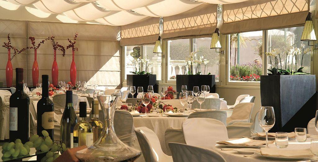 Savour the divine Italian cuisine in the Papillon restaurant