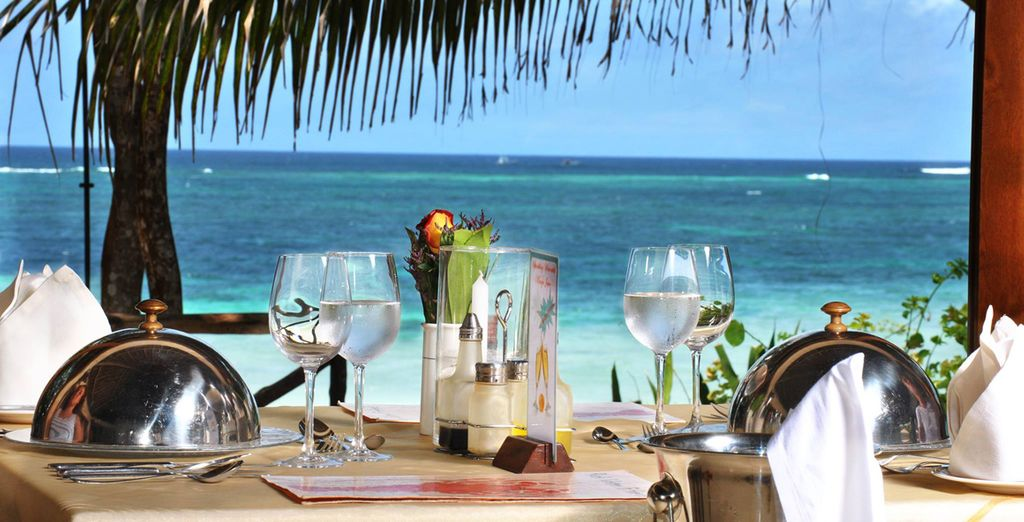 Tuck into meals overlooking the seas