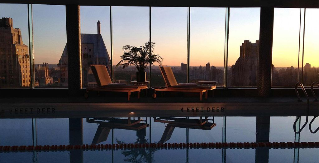 Or a sunset swim in the rooftop pool