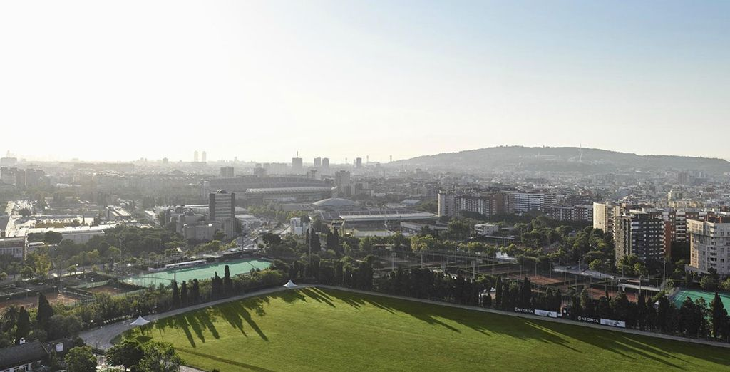Boasting stunning views over Barcelona skyline