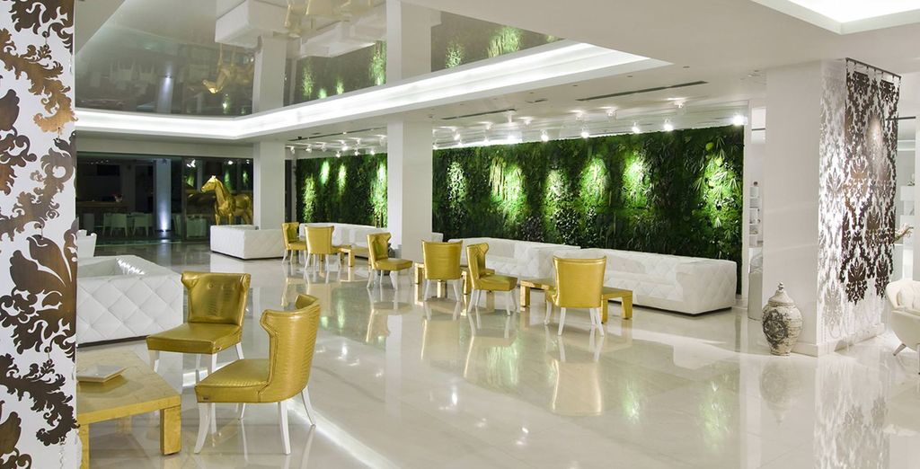 The modern airy lobby welcomes you