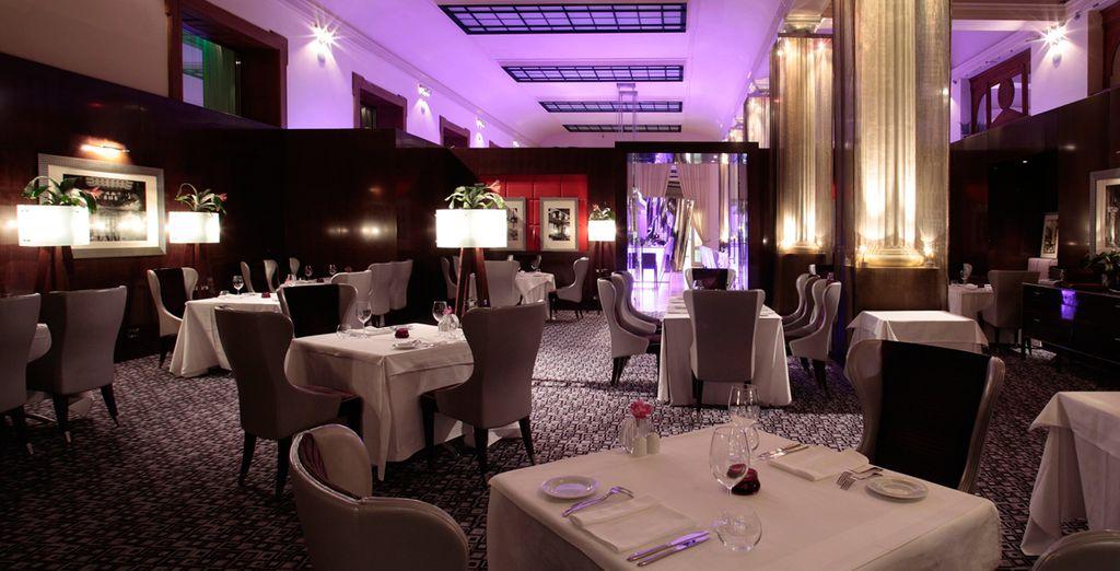 Dine amongst classic elegance in the gourmet restaurant