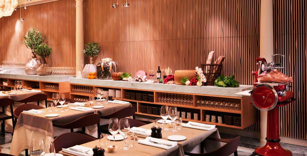 And dinner in elegant surroundings