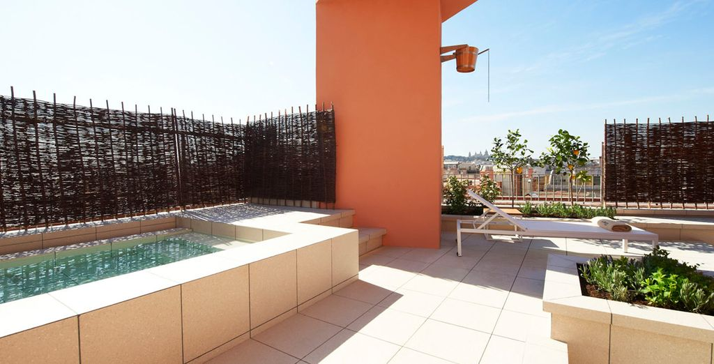 Chill out on the rooftop terrace in warmer months