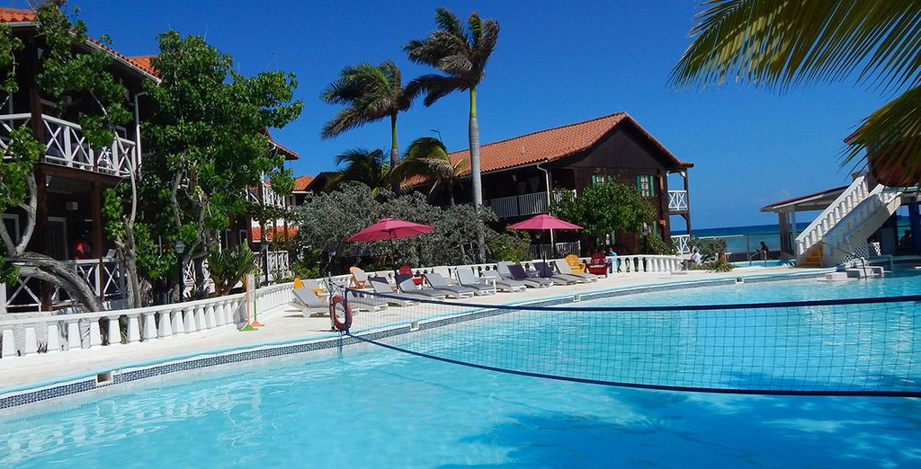 Cool off from the hot Caribbean sun with a dip in the pool