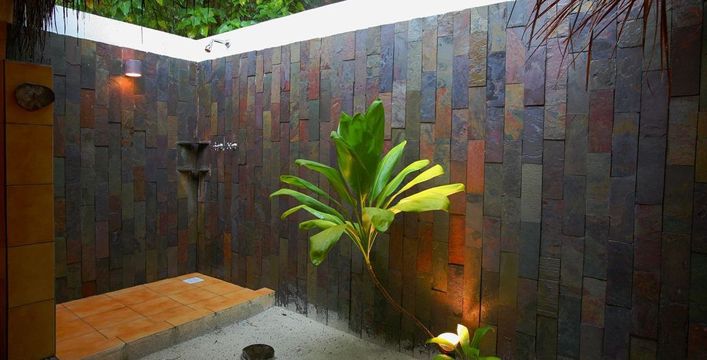 Complete with outdoor shower to awaken your senses....