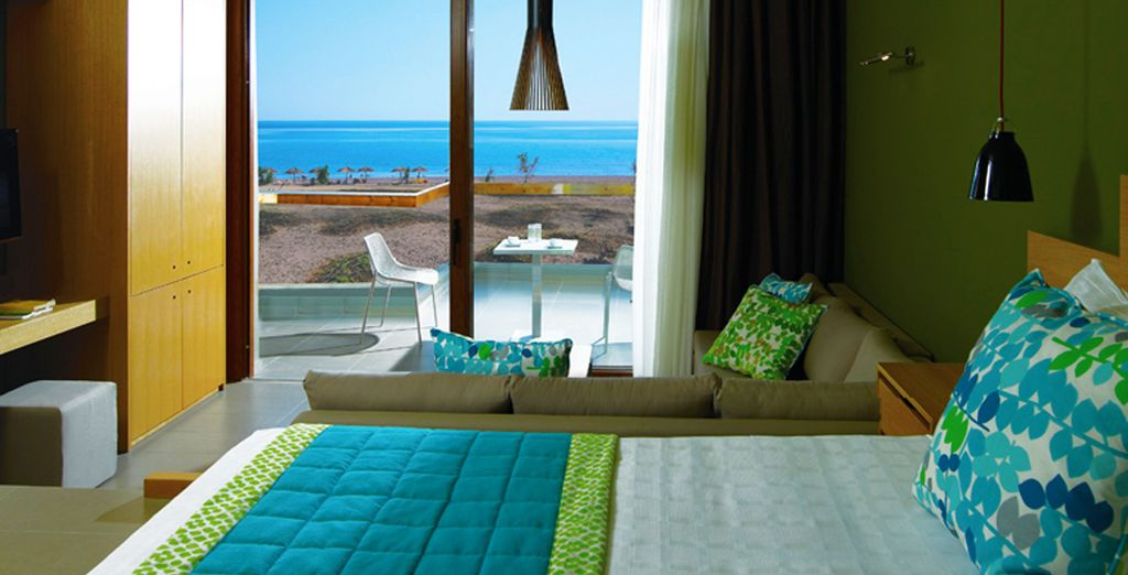 Awake to stunning sea views from your Superior room