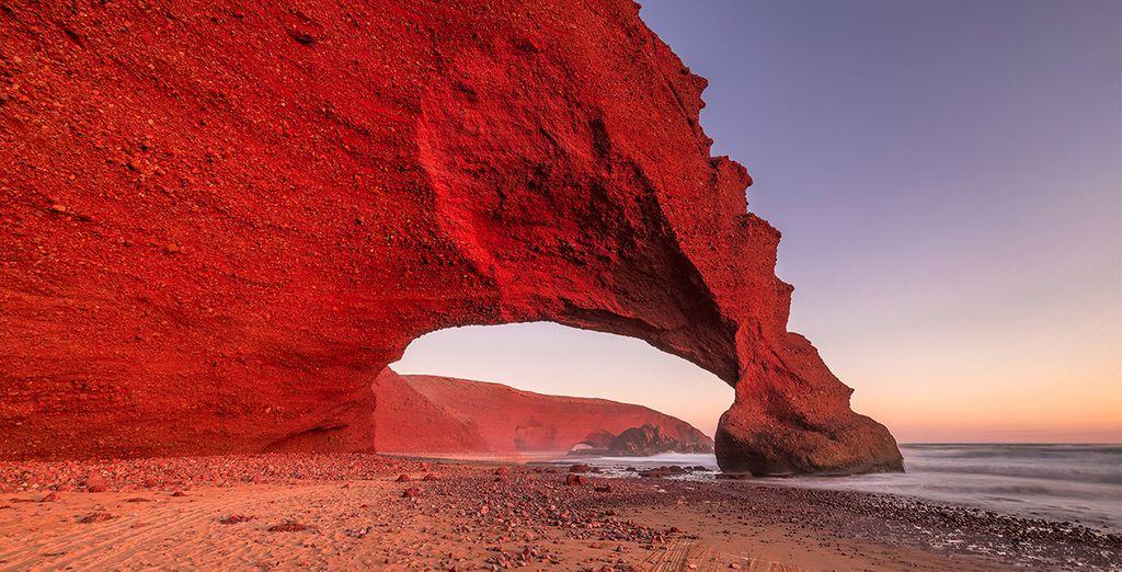 As well as visiting famous Legzira beach