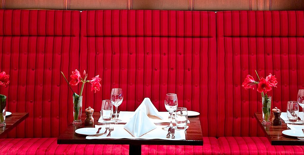 End your evening with a romantic dinner for two