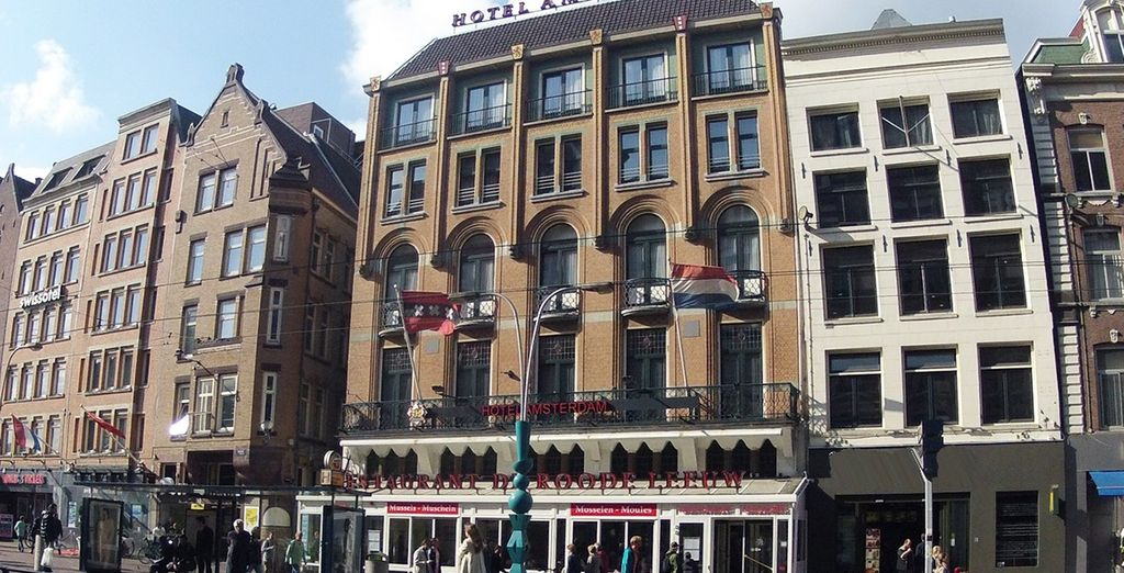 Your hotel is located just off famous Dam Square