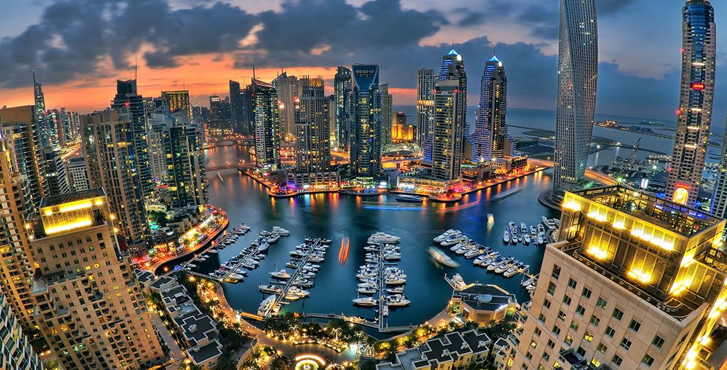 And the the modern extravaganza that is Dubai Marina!