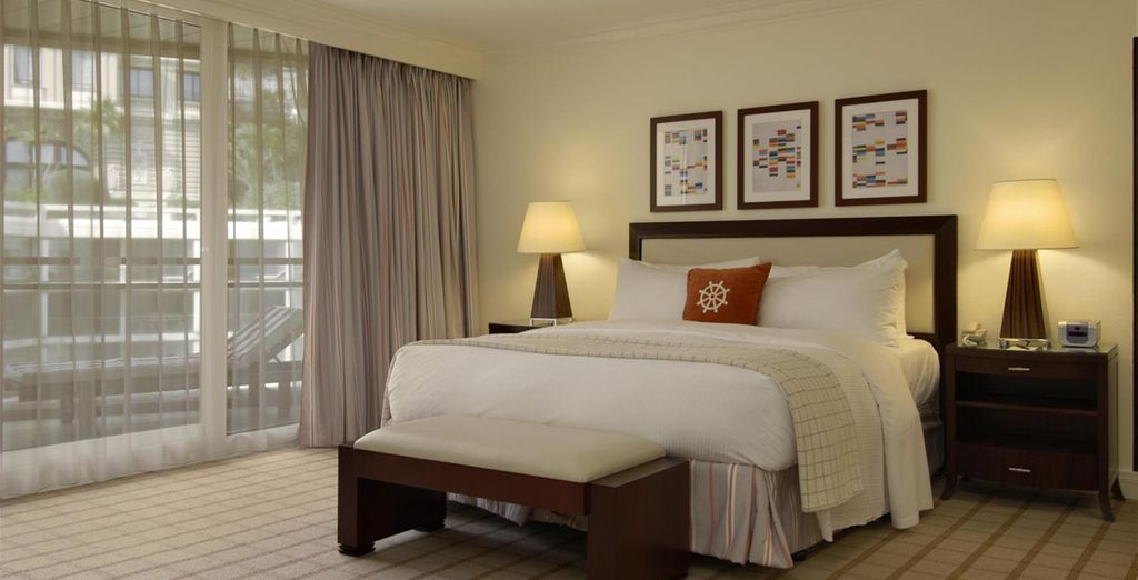 Choose from a Fairmont Room with Garden View