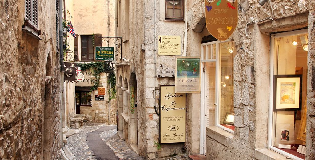 Where you can explore the winding cobbled streets and quaint boutiques