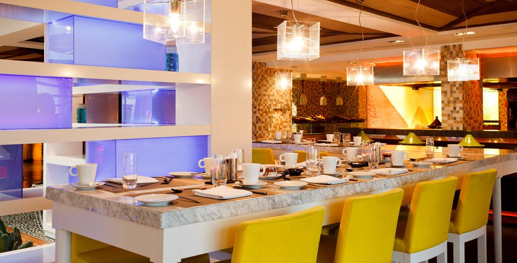 Dining options range from modern & relaxed