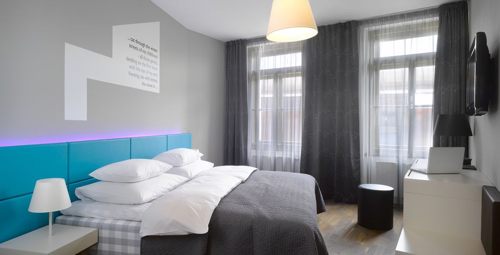 Make your way to your Deluxe Room - MOODs Boutique Hotel 4* Prague