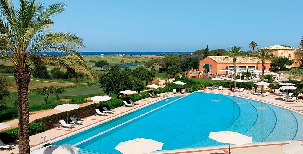 Unwind on a sun lounger by the pool