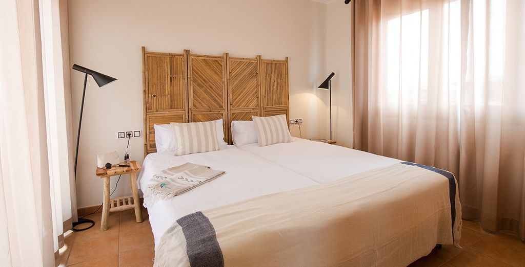 With cosy bedrooms