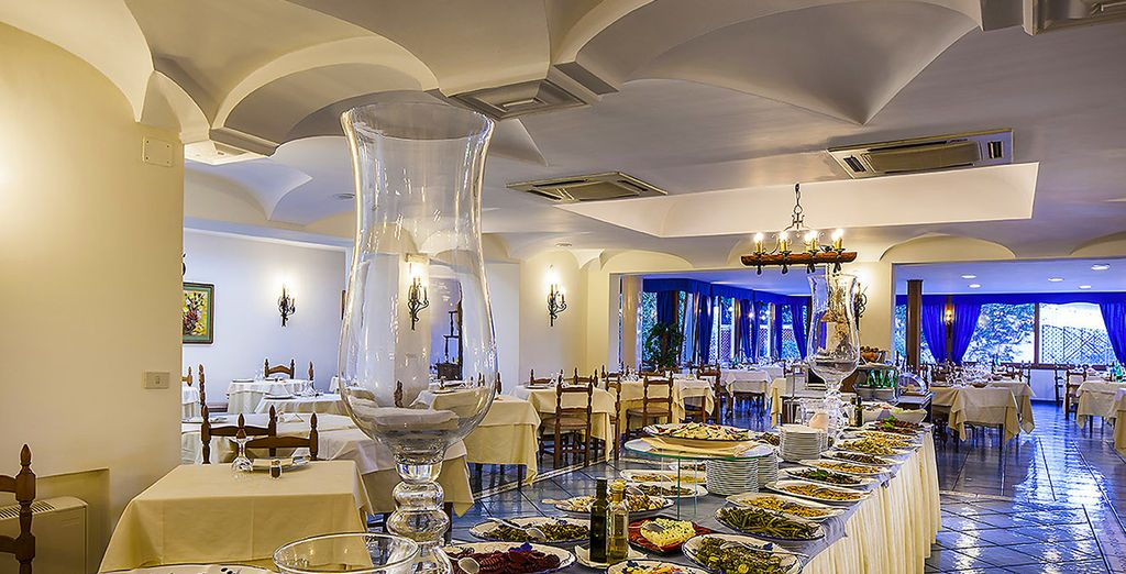 Enjoy the excellent cuisine at the restaurant