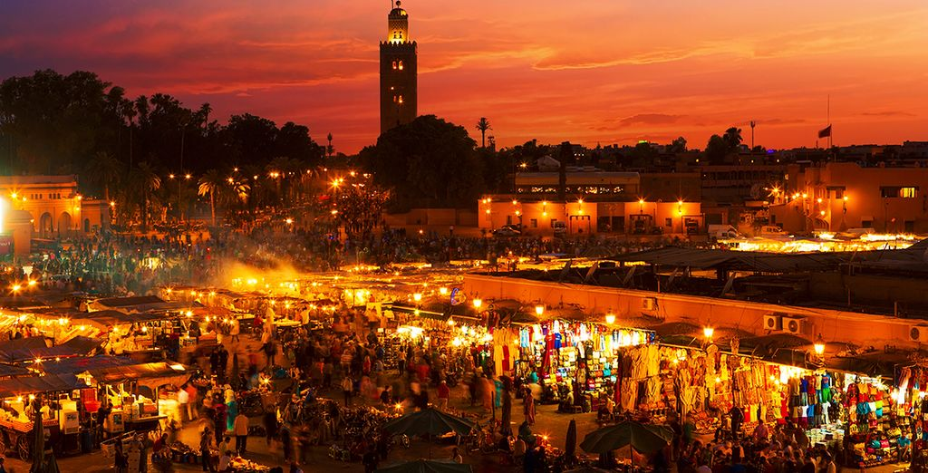 The intoxicating sights of Marrakech's Old Town are just 15 min away