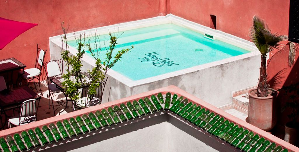 Then cool off in the rooftop pool