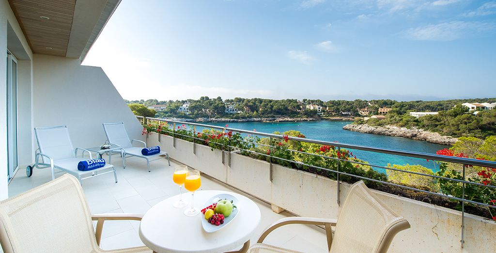 Relax on your sunny terrace at Blau Porto Petro Resort
