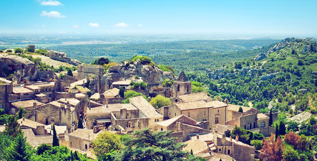 From Les Baux de Provence, a 15 min drive away