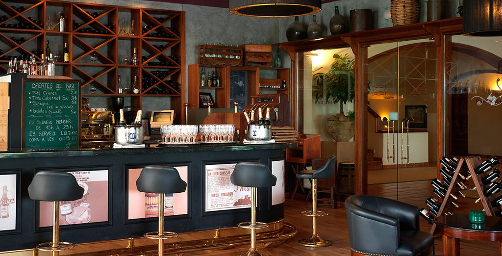 Sample wines at the bar