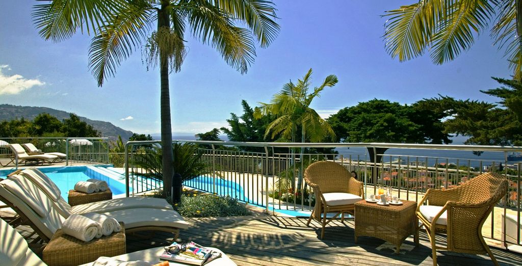 Soak up the sunshine by the pool - Quinta das Vistas Palace Gardens 5* Funchal