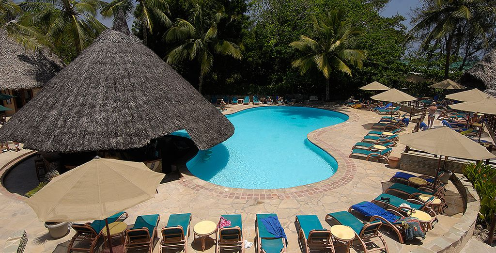 Relax and soak up the sunshine by the pool