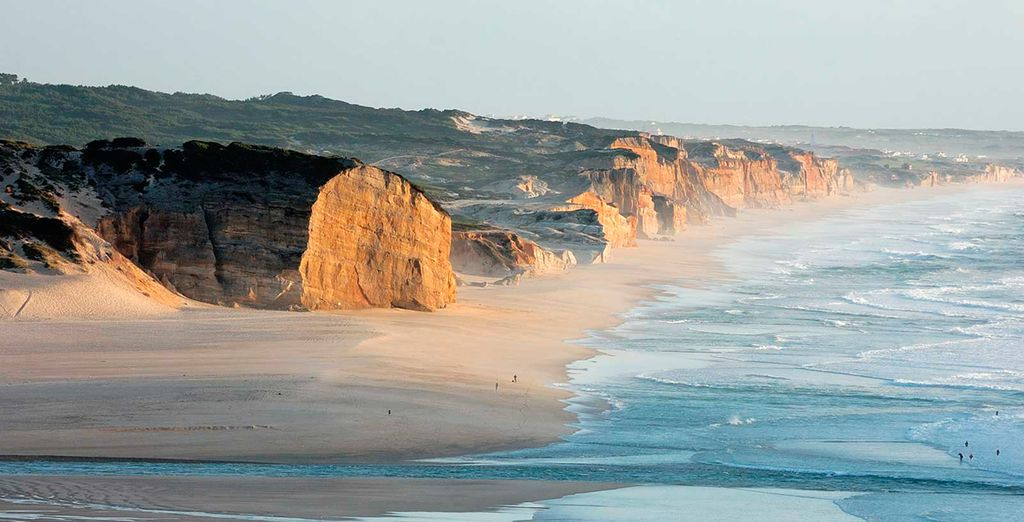 You will find truly spectacular beaches backed by rugged cliffs