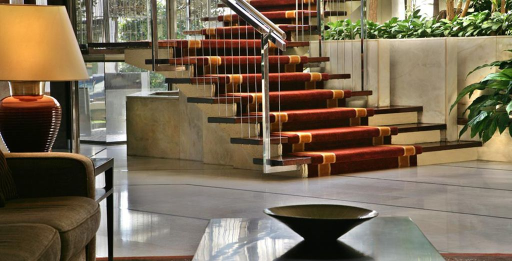 Make your way through the modern and stylish lobby
