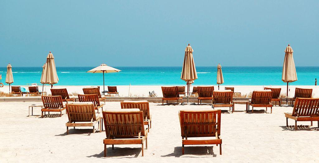 And a pristine private Corniche beach