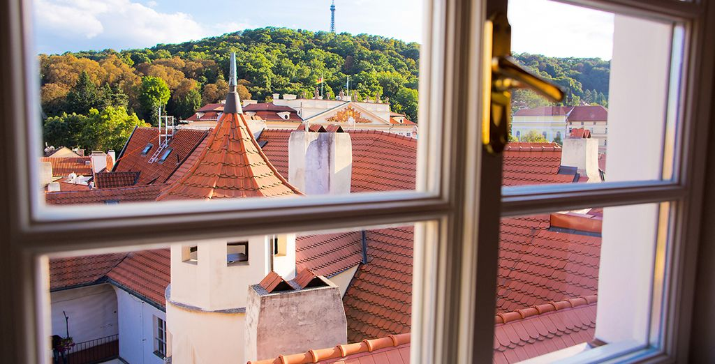 With charming views over the rooftops of the city