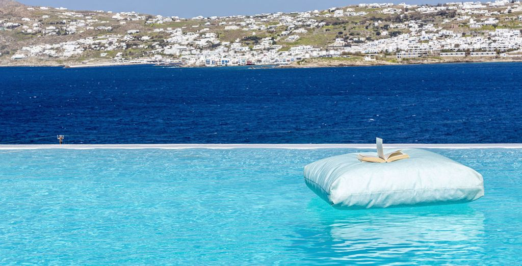 With sublime views of the Aegean