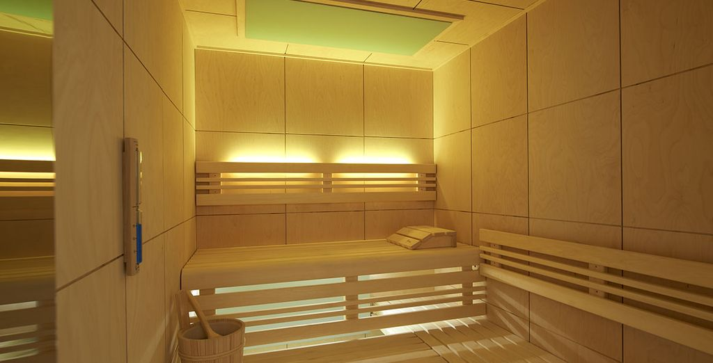 The chic spa by Clarins is an ideal space to indulge