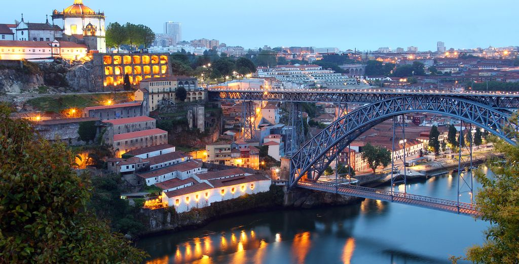 Located just across the bridge from Porto