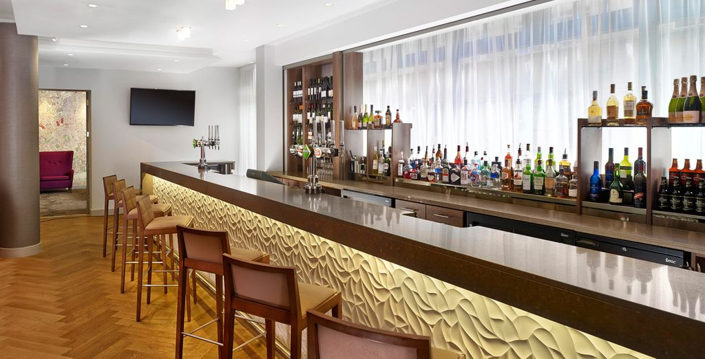 After a long day exploring, return to the calm surroundings of the hotel with a relaxing drink