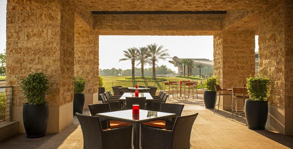 Take breakfast with a view & enjoy the sun