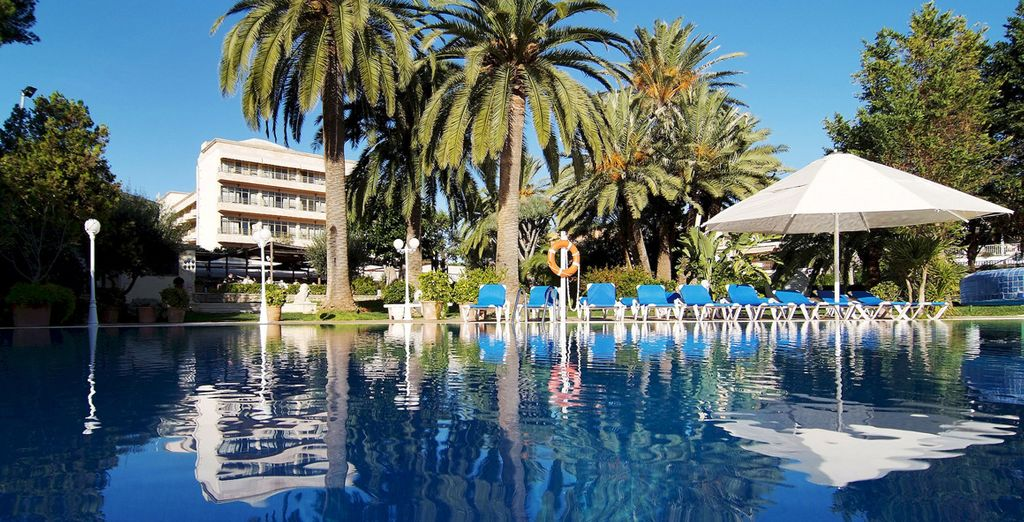 Son Caliu Hotel Spa Oasis is surrounded by gardens