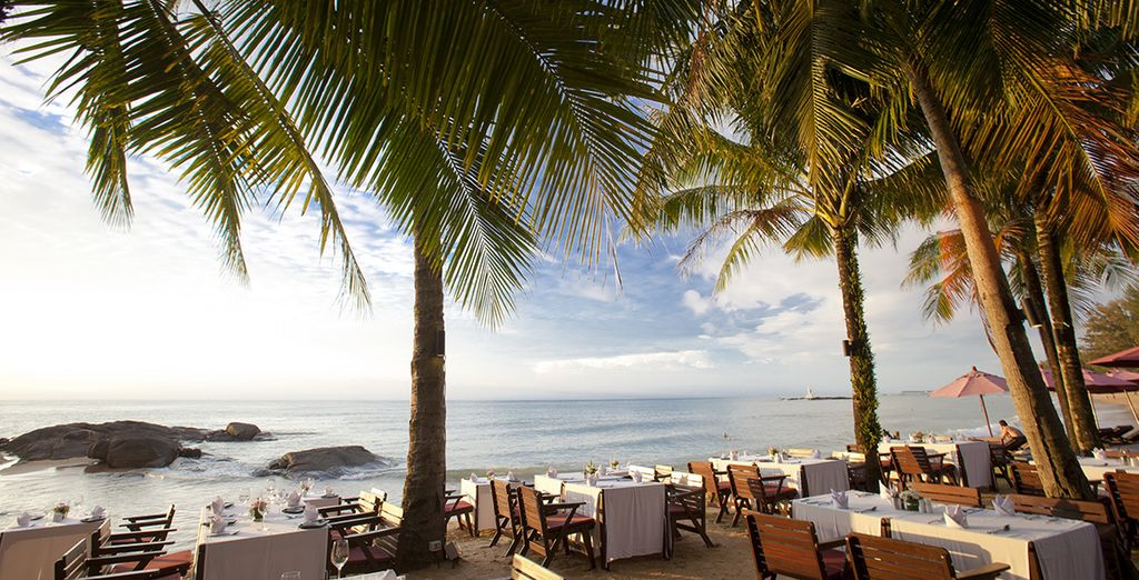 Enjoy breakfast with this view