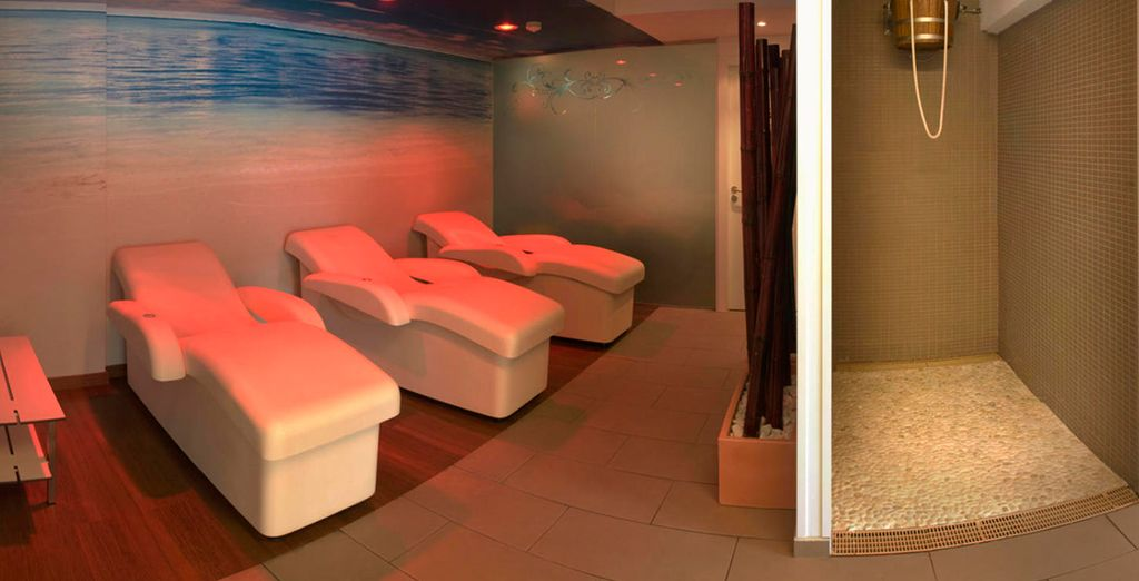 Enjoy moments of peace and quiet in the spa...