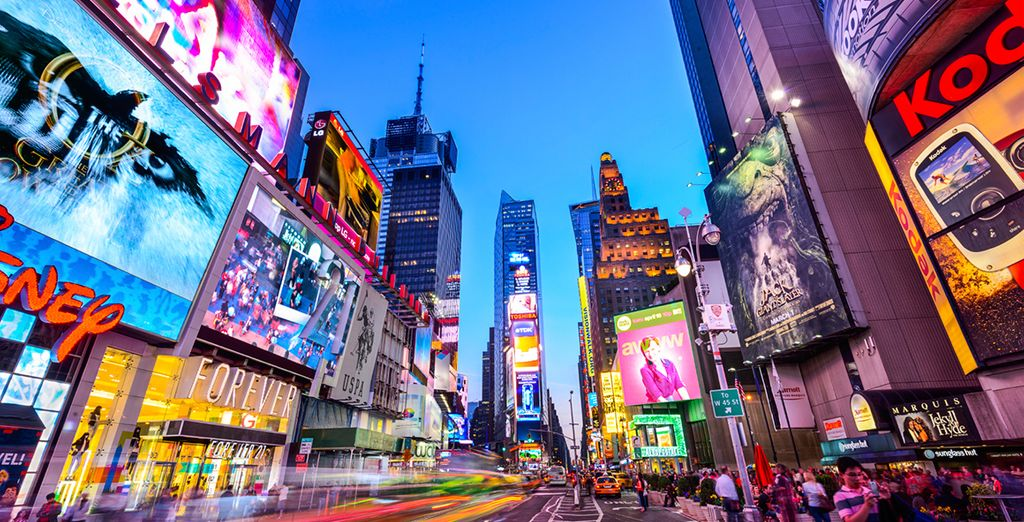 Times Square is just 10 minutes drive away