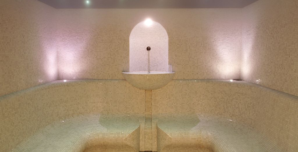 Soothe muscles in the steam room or jacuzzi