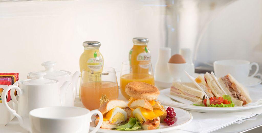 Enjoy a buffet breakfast each morning