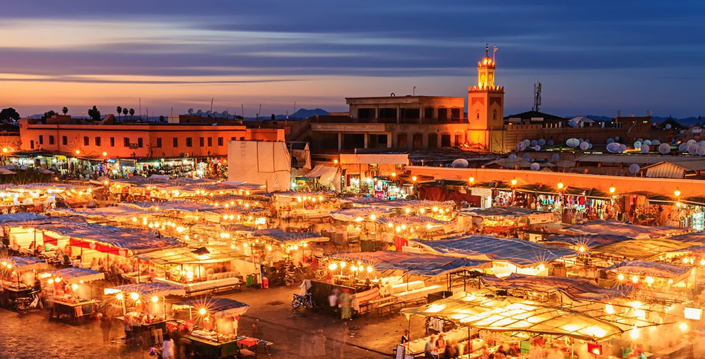 The bustling souks are waiting to be explored...